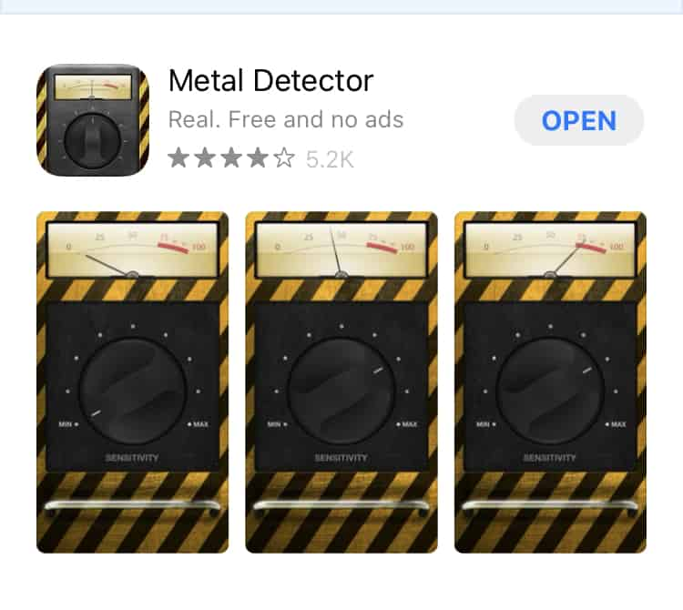 metal detector app for your phone